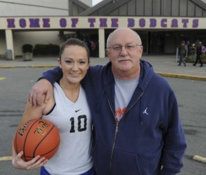 Jessie Brown and her father, Neil. Photo Credit: Jason Payne, PNG)
