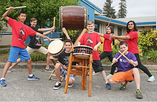 Langley School District: Langley Taiko Drummers Set To Make Some Noise
